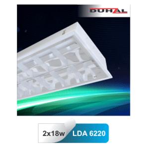 Máng đèn huỳnh quang âm trần Duhal LDA 6220 2x18W