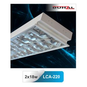 Máng đèn huỳnh quang Duhal âm trần LCA 220 2x18W