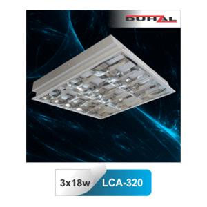 Máng đèn huỳnh quang Duhal âm trần LCA 320 3x18W