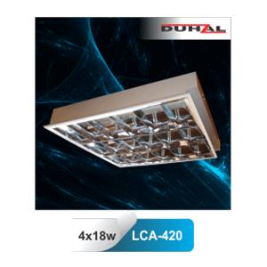 Máng đèn huỳnh quang Duhal âm trần LCA 420 4x18W