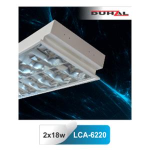 Máng đèn huỳnh quang Duhal âm trần LCA 6220 2x18W