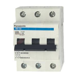 Cầu dao tự động MCB 3P/80A 10KA BBD308031C Panasonic