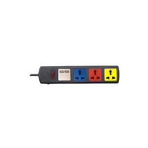 Ổ cắm đa năng có cổng sạc USB 4 ổ 3m 4D32NUSB Lioa