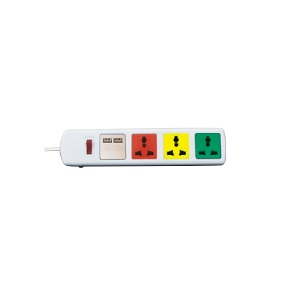 Ổ cắm đa năng có cổng sạc USB 4 ổ 3m 4D32WNUSB Lioa