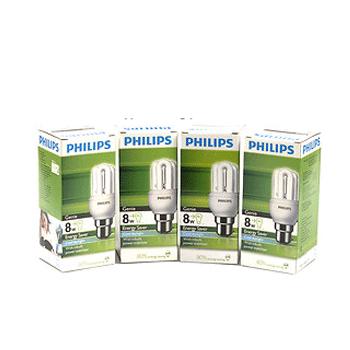 Bóng đèn compact Philips Essential 8W 2U