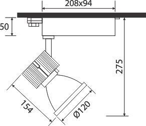 Đèn pha Led tiêu điểm PSLMM34L/30/40/65 Paragon