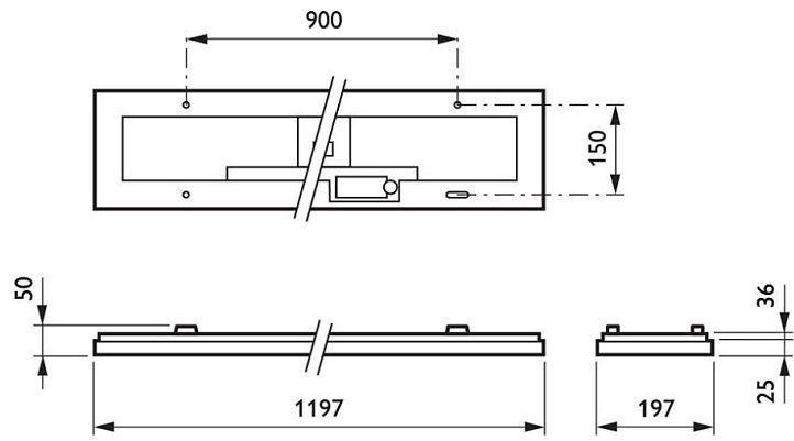 so-do-kich-thuoc-bo-den-led-am-tran-RC098V-LED44S/865-GM-0.6mx1.2m-Philips