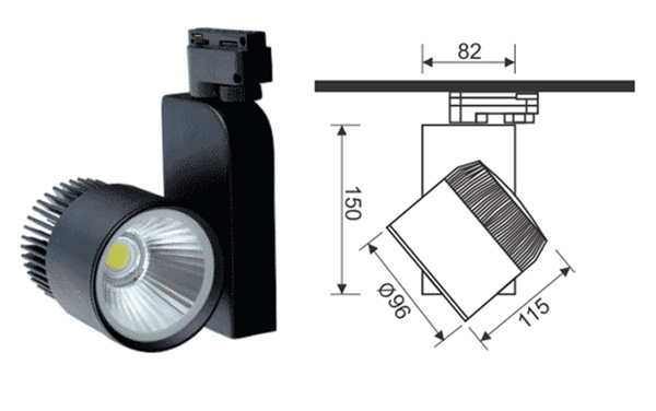 Thiết kế kỹ thuật Đèn pha led tiêu điểm