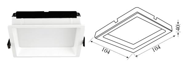 Thiết kế kỹ thuật đèn Led âm trần vuông
