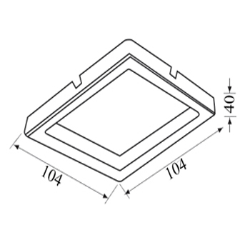 thiết kế kỹ thuật đèn led âm trần vuông 7W Paragon