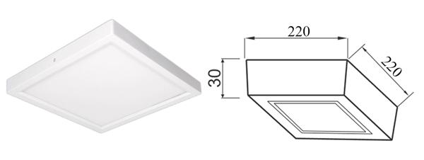 Thiết kế kỹ thuật đèn Led ốp trần Paragon