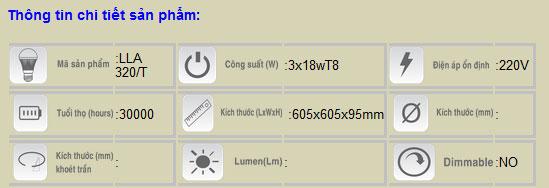 Thông số LLA 320T Duhal